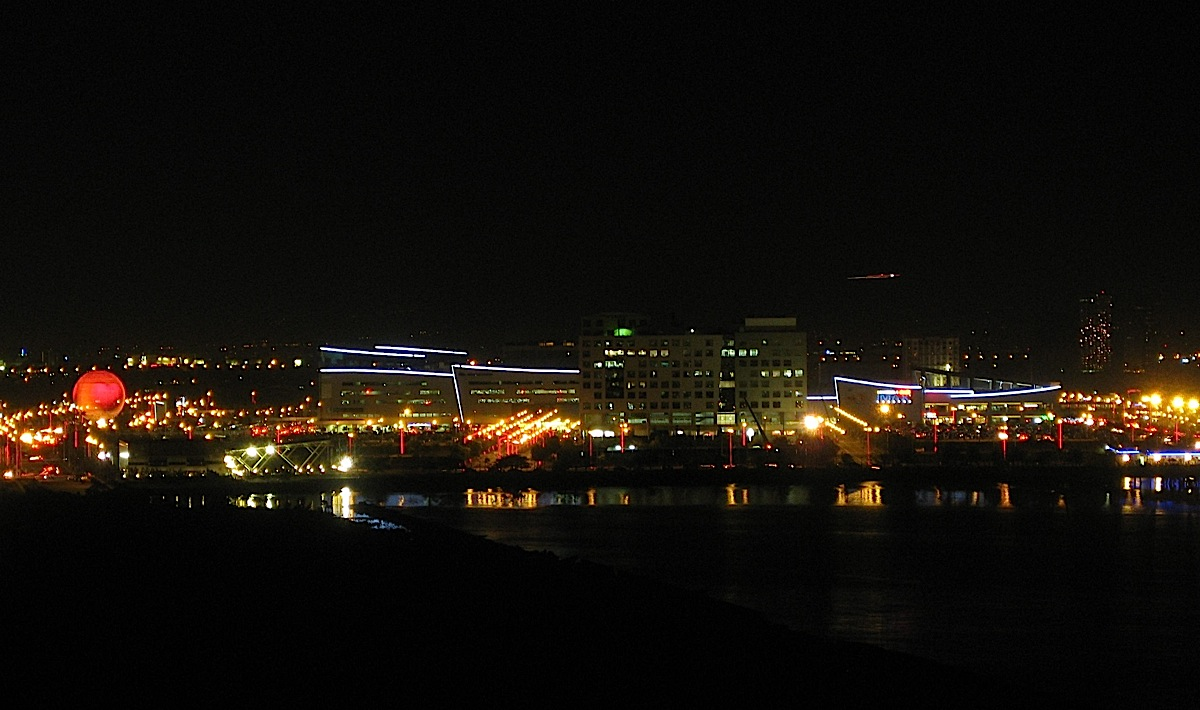 SM Mall of Asia at night seen from a distance