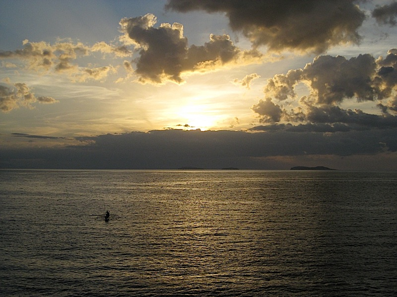 a Marinduque fisherman during sunset