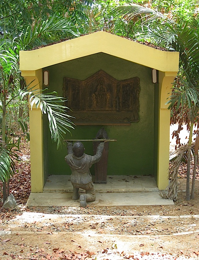 a shrine at the Loyola Retreat House in Angono, Rizal