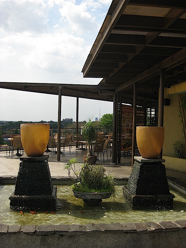 koi pond of Dencio's Bar and Grill in Capitol Hills
