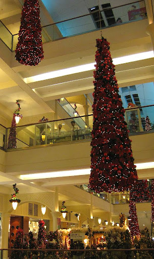 Christmas decorations at the Power Plant Mall