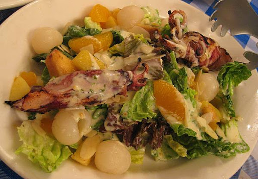 Italianni's Grilled Squid Salad