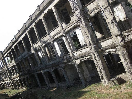 Middleside barracks ruins in Corregidor Island