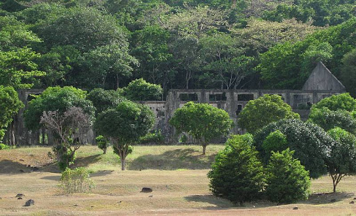 YMCA building ruins in Corregidor Island
