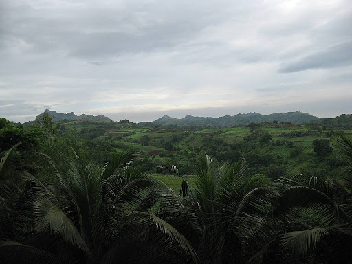 view of the farmlands and hills of Batangas in Caleruega in Batangas