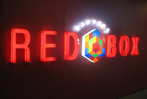 Red Box Karaoke sign