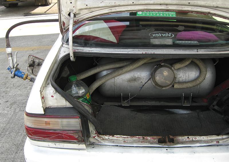 LPG tank in car