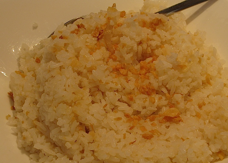 fried garlic rice at Crisostomo