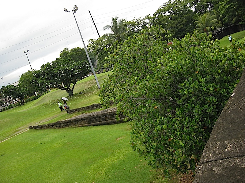 pathway of the Postigo del Palacio in Intramuros and the Club Intramuros Golf Course