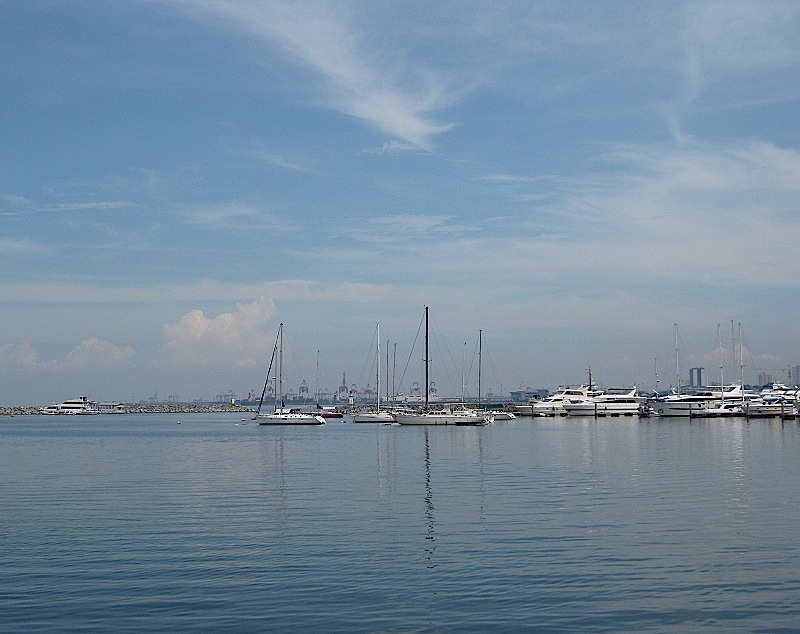 a bright, blue day at the Manila Yacht Club