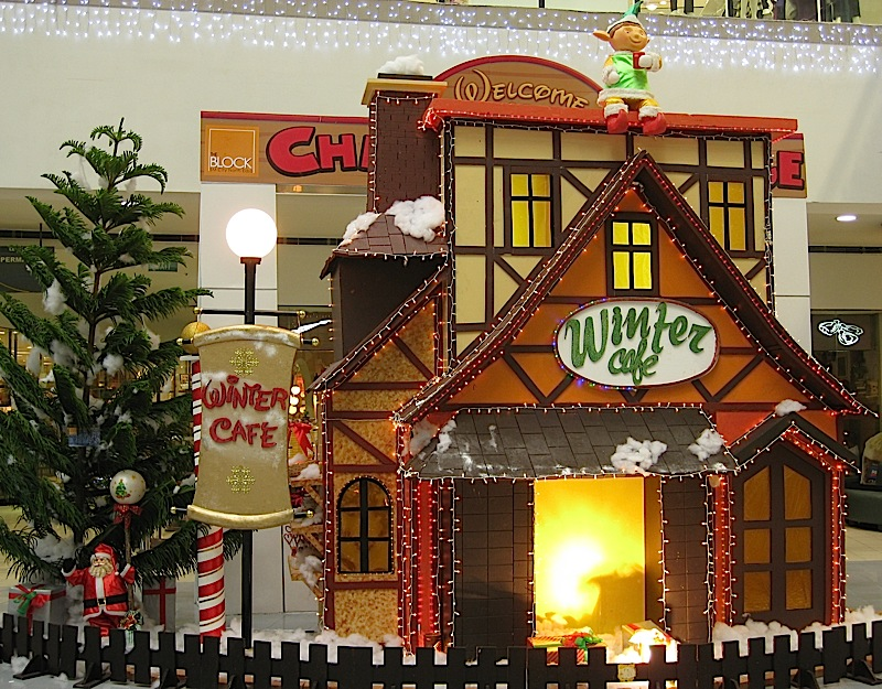 Winter Café at the Christmas Village in The Block at SM City North EDSA