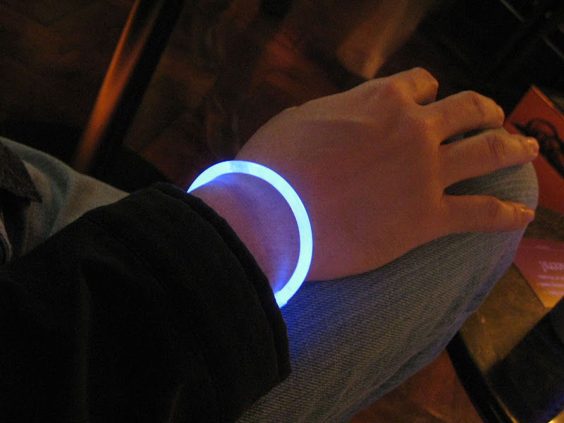 glow-in-the-dark bracelet at the Glitter and Glow themed party at Sofitel Manila's 7Pecados by the Bay