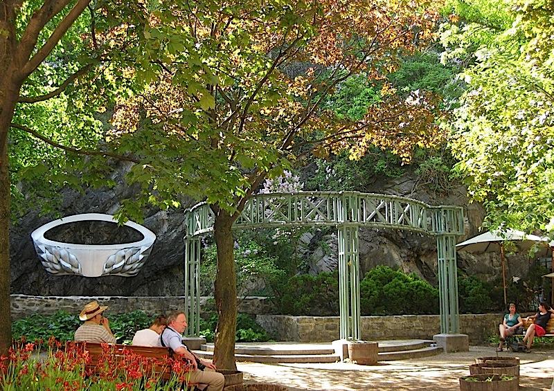 small park at Quartier Petit Champlain, Quebec City