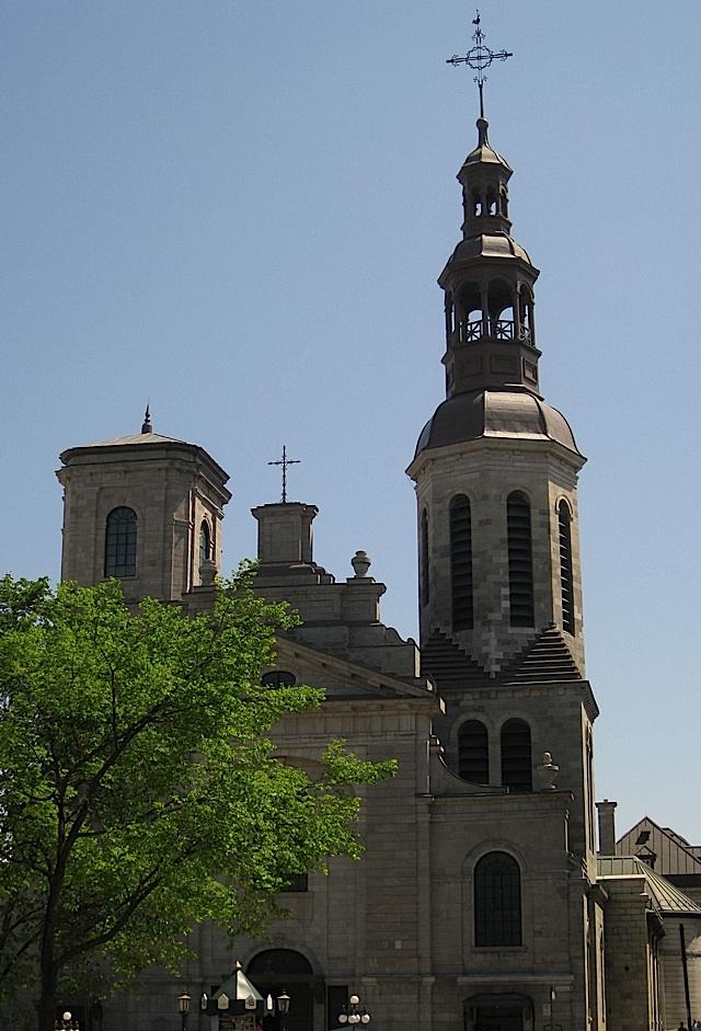 facade of the Notre-Dame de Québec, Quebec City