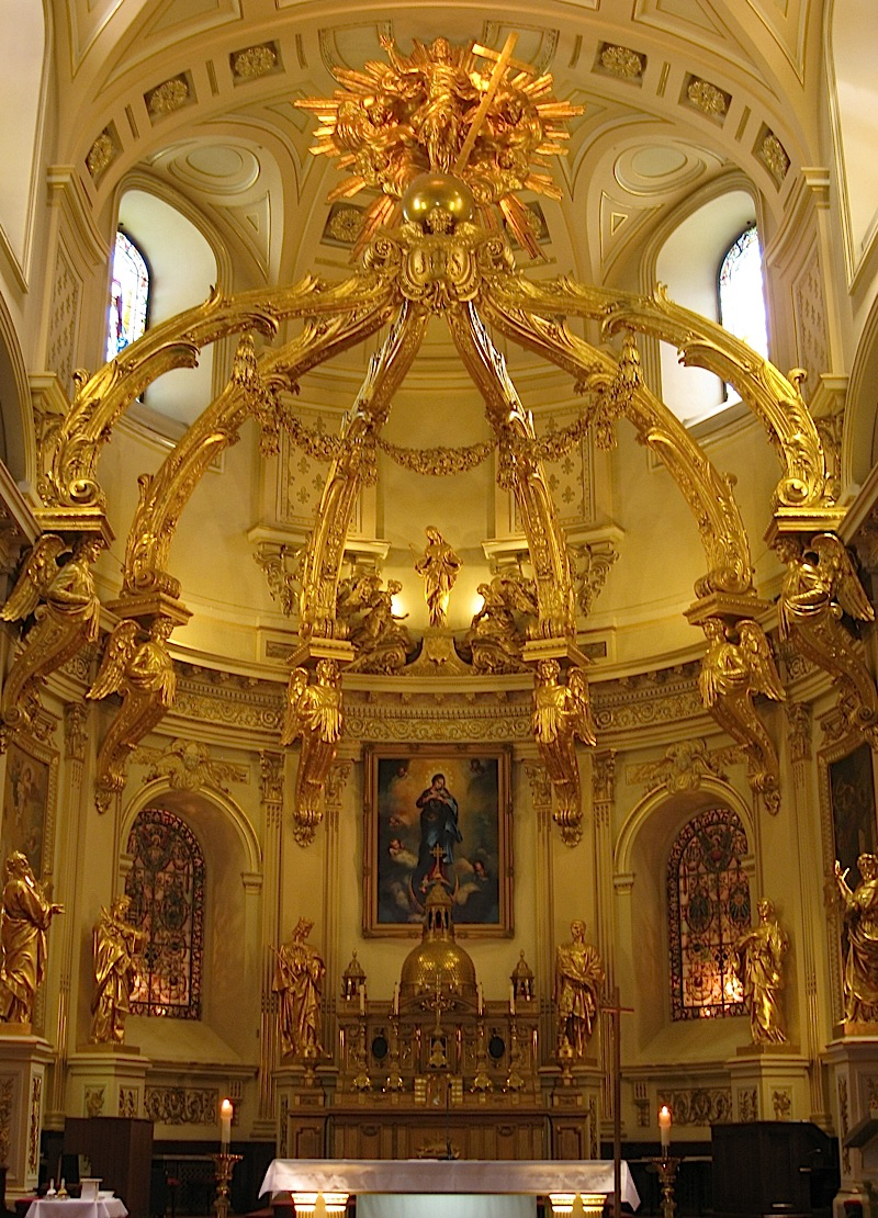 golden baldaquin of the Notre-Dame de Québec, Quebec City