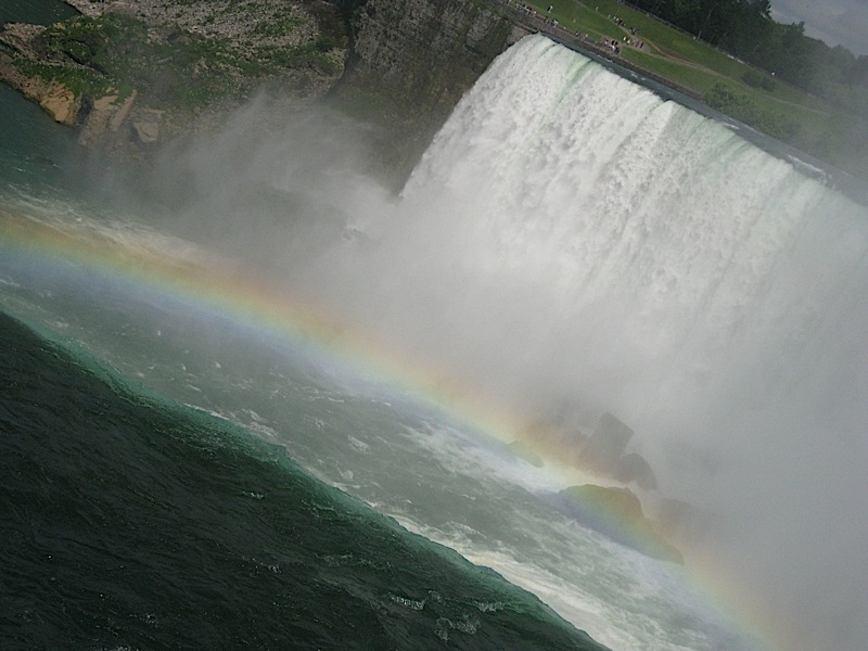 rainbow at the Canadian Horseshoe Falls, Niagara Falls
