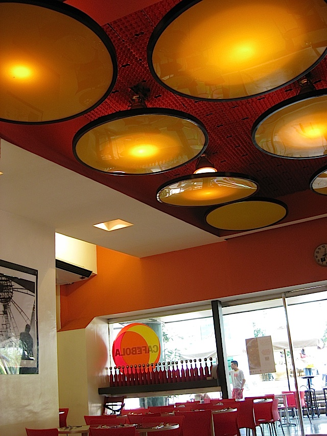 interior of Café Bola at the Araneta Coliseum