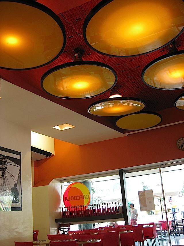 interior of Café Bola at the Araneta Coliseum
