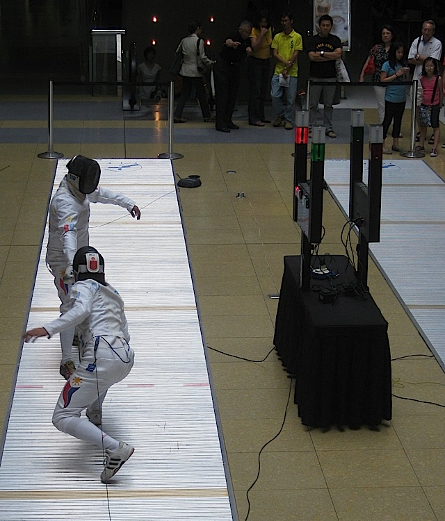 fencing competition in The Podium mall