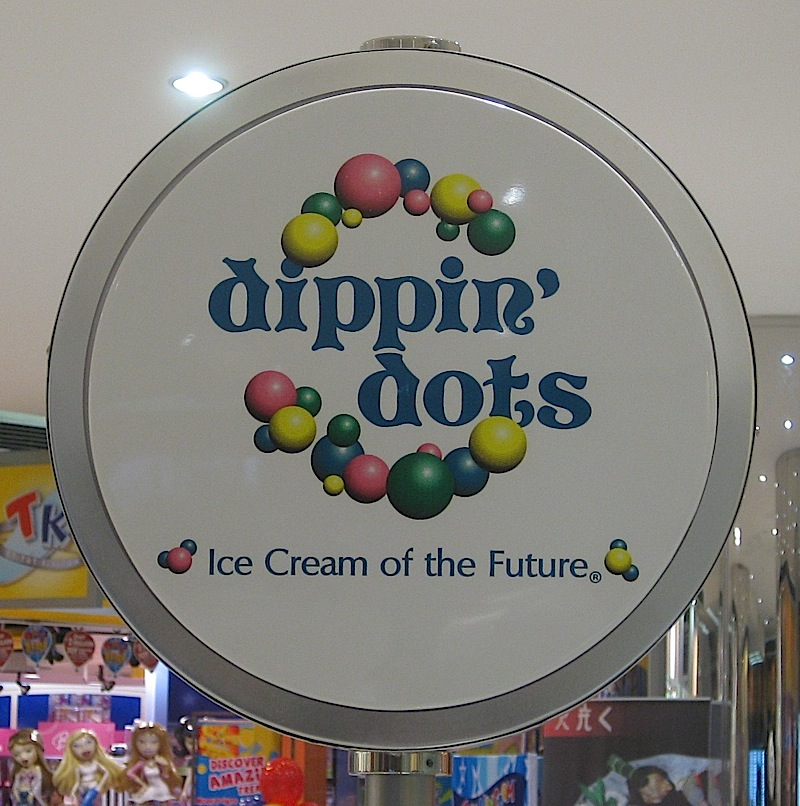 Dippin' Dots logo and tag line