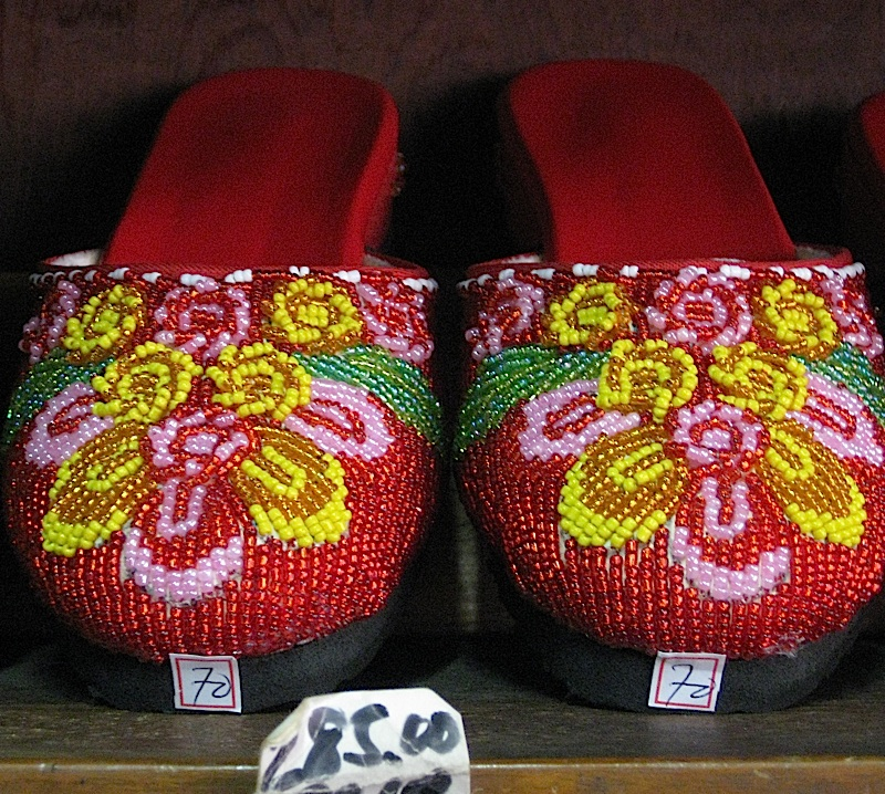 hand-beaded slippers found in Binondo, Manila's Chinatown