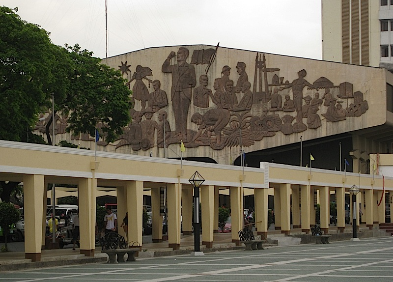 bas-relief on Quezon City Hall