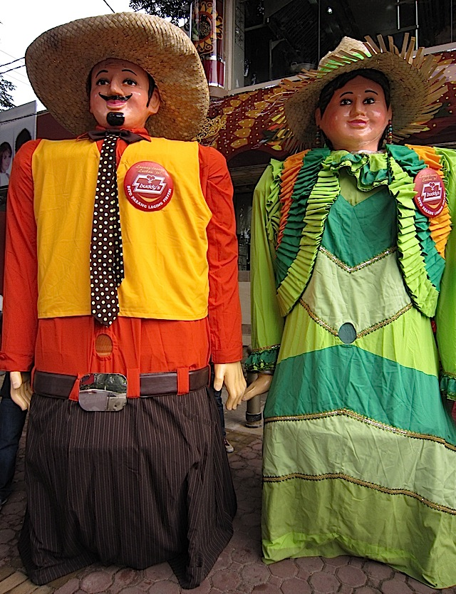 higantes (giants) at the opening of Buddy's restaurant along Timog Avenue