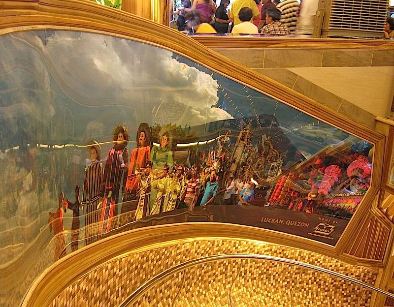 Lucban photo mural in Buddy's restaurant along Timog Avenue