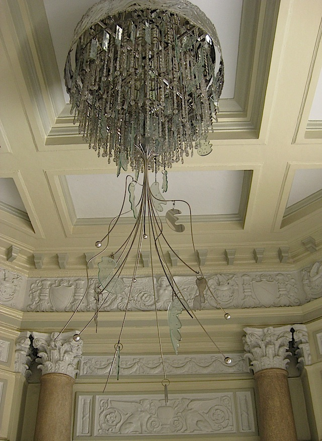 chandelier at the National Art Gallery