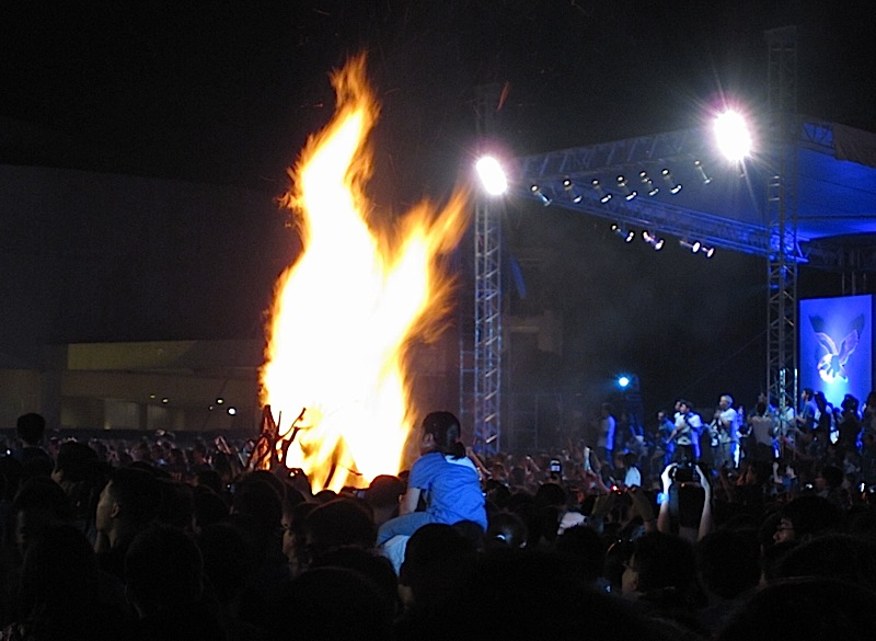 'Three for History' Ateneo de Manila University bonfire