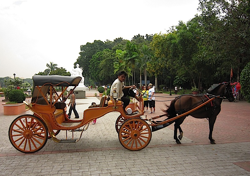 elegant kalesa or carruaje in Rizal Park