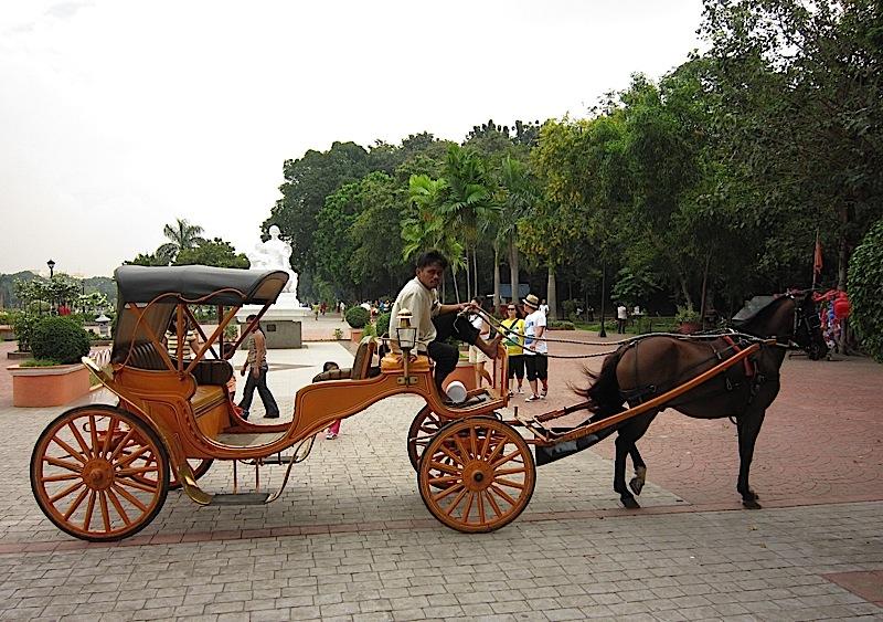 elegant kalesa or carruaje in Rizal Park