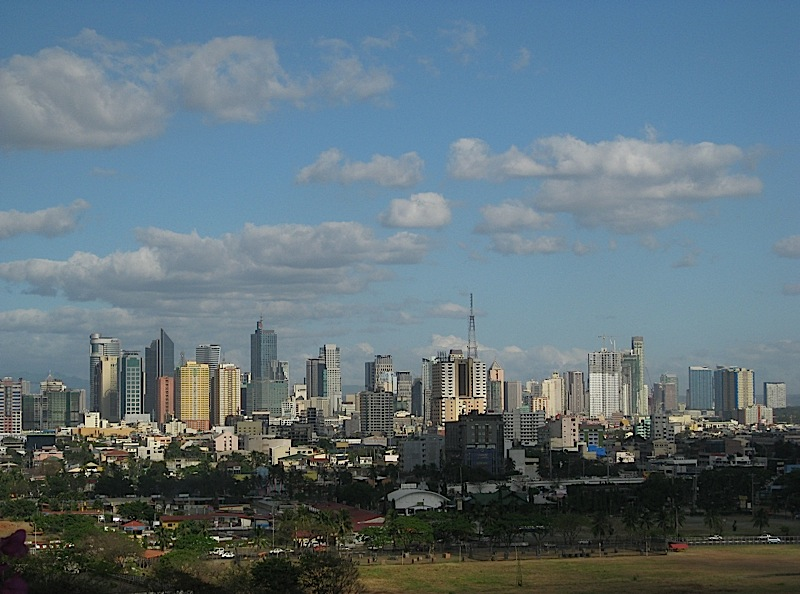 view of Pasay City from Hotel Sofitel Philippine Plaza