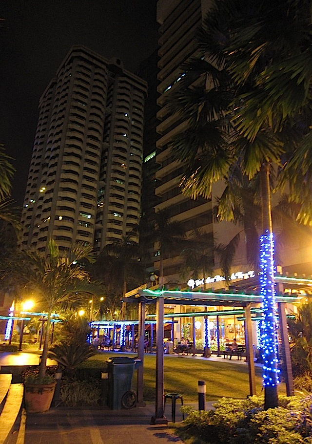 Ortigas Park at night