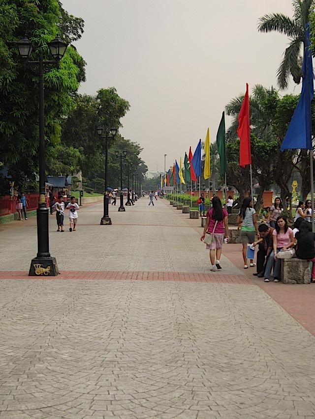 promenade at the Rizal Park
