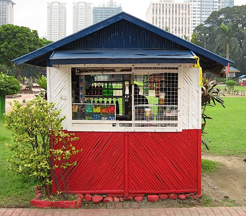 snack counter in Rizal Park