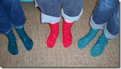 Maelstrom Socks Completed Trio