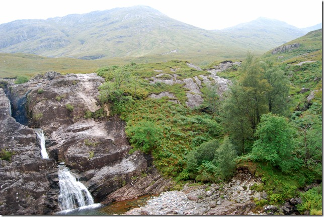 The waterfall outside Glencoe