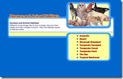 humans and animals habitats