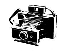 polaroid camera stencil