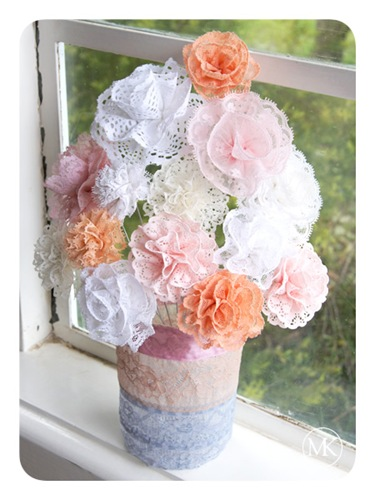 Lace flower bouquet 1