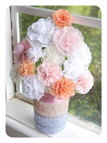 Lace flower bouquet 1
