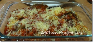 like eggplant parmigiana, by 240 baon