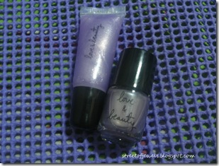 love and beauty lavender lip gloss and nail polish