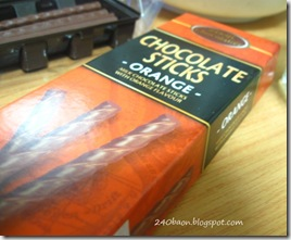 chocolate orange sticks, by 240baon