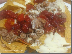 nachos with cream cheese dressing, by 240baon