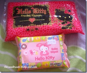 hello kitty facial tissues and small wet tissues, by bitsandtreats