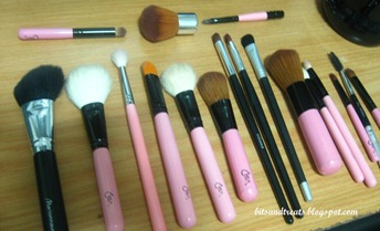 assorted makeup brushes before washing 2, by bitsandtreats