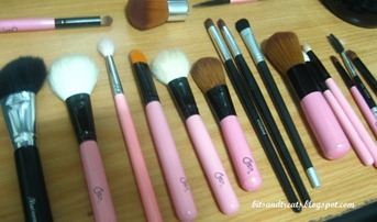assorted makeup brushes before washing 3, by bitsandtreats
