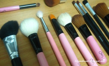assorted makeup brushes before washing 4, by bitsandtreats